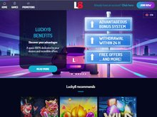 Casino Lucky8 Homepage Preview