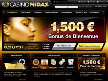 Casino Midas Homepage Preview