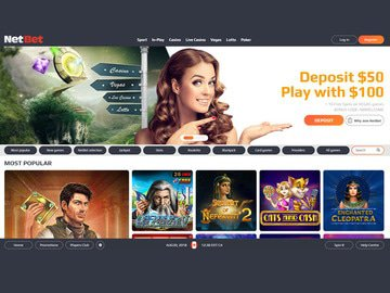 Casino NetBet Homepage Preview