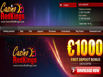 Casino RedKings Homepage Preview