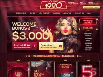 Casino1920 Homepage Preview