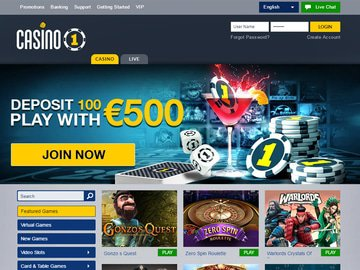 Casino1Club Homepage Preview