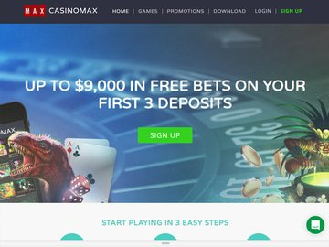 CasinoMax Homepage Preview