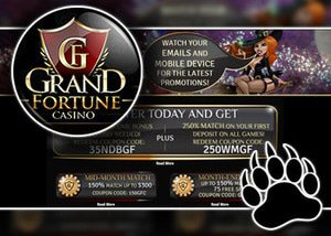 month end match bonus grand fortune casino