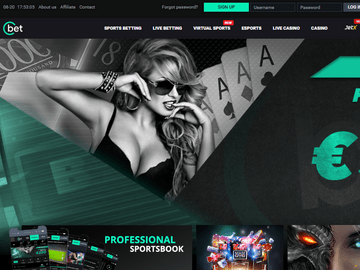 Cbet Casino Homepage Preview