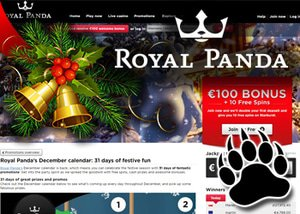 royal panda celebrate christmas