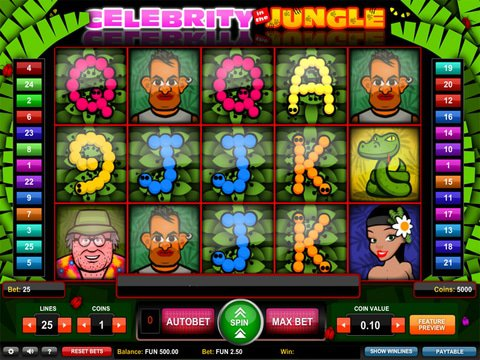Celebrity in the Jungle Game Preview
