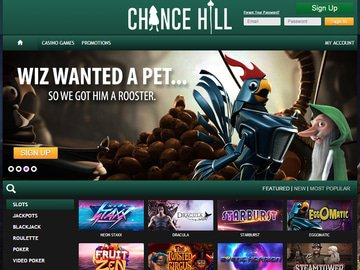 ChanceHill Casino Homepage Preview