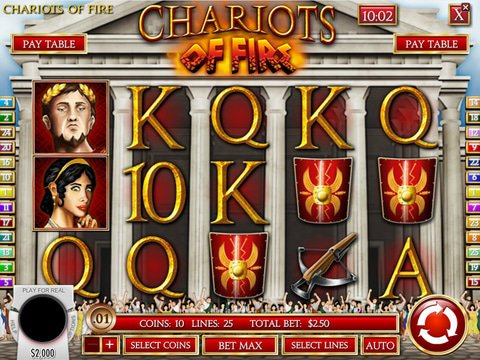 Chariots of Fire No Download Slot Machine Online