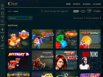 Cheri Casino Software Preview