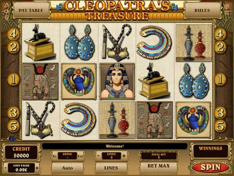 Relax With CleopatraS Treasure Slots With No Download