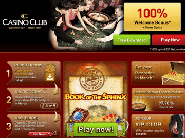 Club Casino Homepage Preview