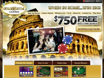 Colosseum Casino Homepage Preview