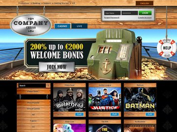 Company Casino Homepage Preview