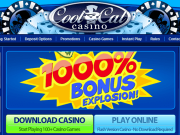 Cool Cat Casino Homepage Preview