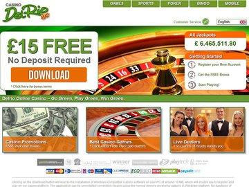 Del Rio Casino Homepage Preview