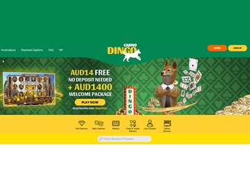 Dingo Homepage Preview