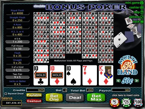Double Double Bonus Poker Game Preview