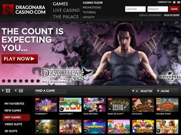 Dragonara Casino Homepage Preview