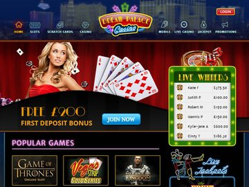 Dream Palace Casino Homepage Preview