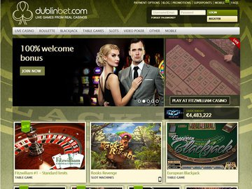 Dublinbet Casino Homepage Preview