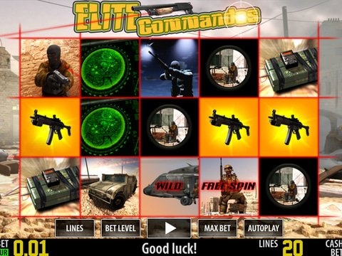 Play Elite Commandos Slots Here For Free