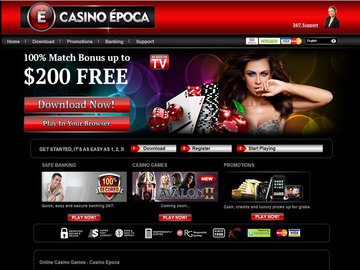 Epoca Casino Homepage Preview
