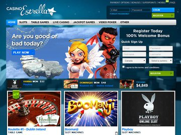 Estrella Homepage Preview