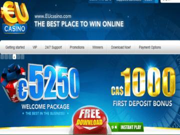 EU Casino Homepage Preview