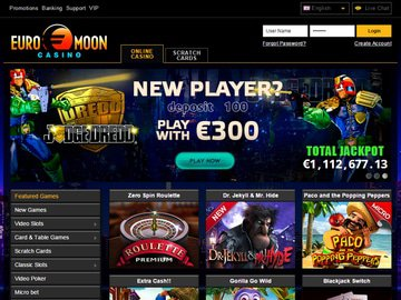 Euro Moon Casino Homepage