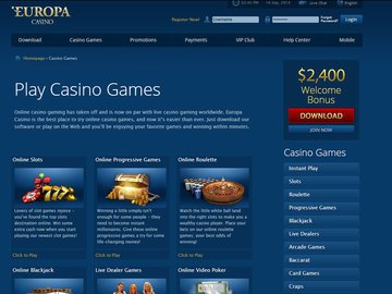 Europa Casino Software Preview