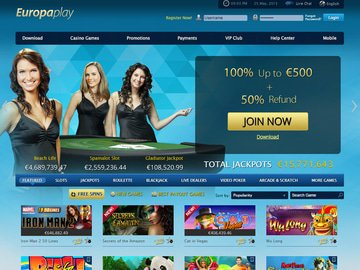 Europaplay Casino Homepage Preview