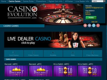 Evolution Casino Software Preview