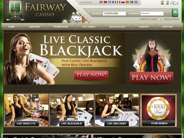 Fairway Casino Homepage Preview