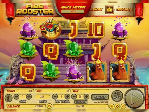 Fire Rooster Slot Machine