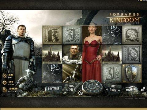 Play The No Download Forsaken Kingdom Slots Here