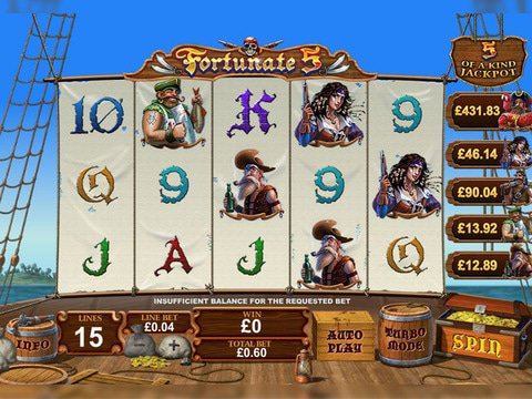 Fortunate 5 Game Preview