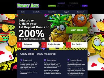 FreakyAces Homepage Preview
