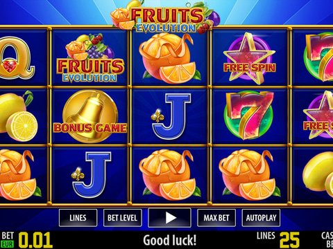 Fruits Evolution HD slot machine with no download