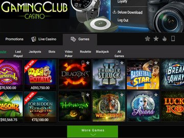 Gaming Club Casino Software Preview