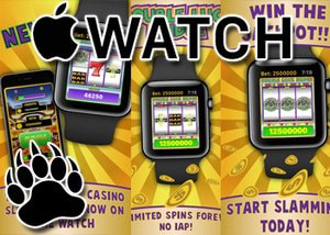 Real money slots for the Apple watch have arrived.