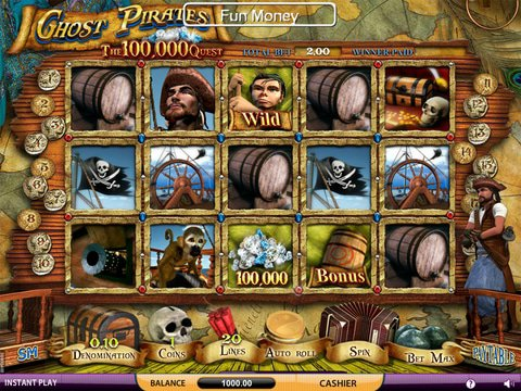 Ghost Pirates : Free 3D Slot To Play With No Download