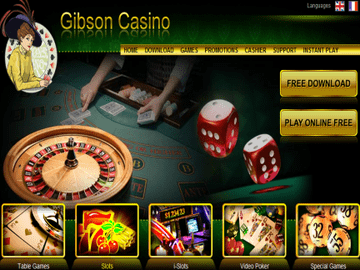 Gibson Casino Homepage Preview