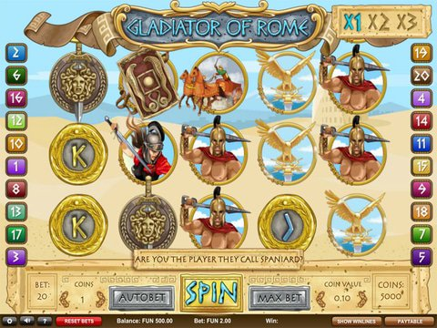 Try The Gladiator Of Rome Slots With No Download
