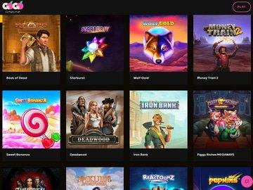 GoGo Casino Homepage Preview