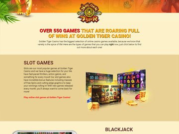 Golden Tiger Casino Software Preview