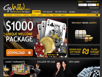 Gowild Casino Homepage Preview