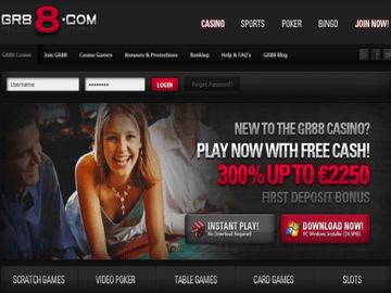 Gr88 Casino Homepage Preview