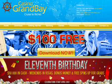 Grand Bay Casino Homepage Preview