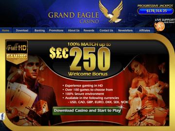 Grand Eagle Casino Homepage Preview